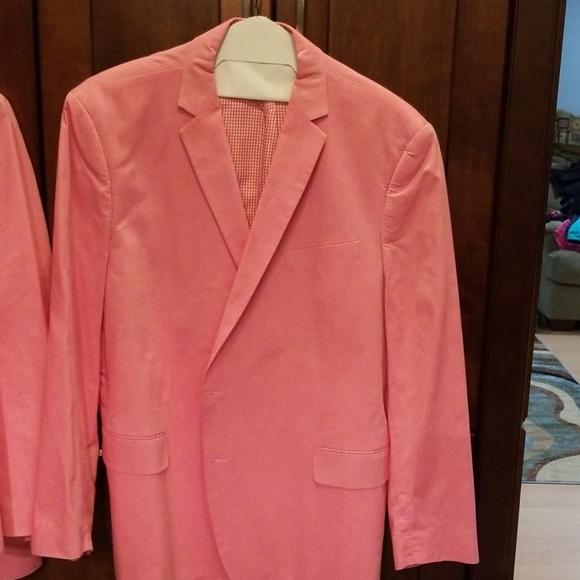 Pink Stafford cotton sports coat 52 reg.